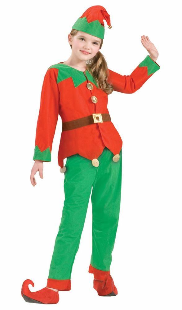 c9588b8dde4e Santa's Helper Elf Child Costume   Christmas Party Supplies   Kids ...