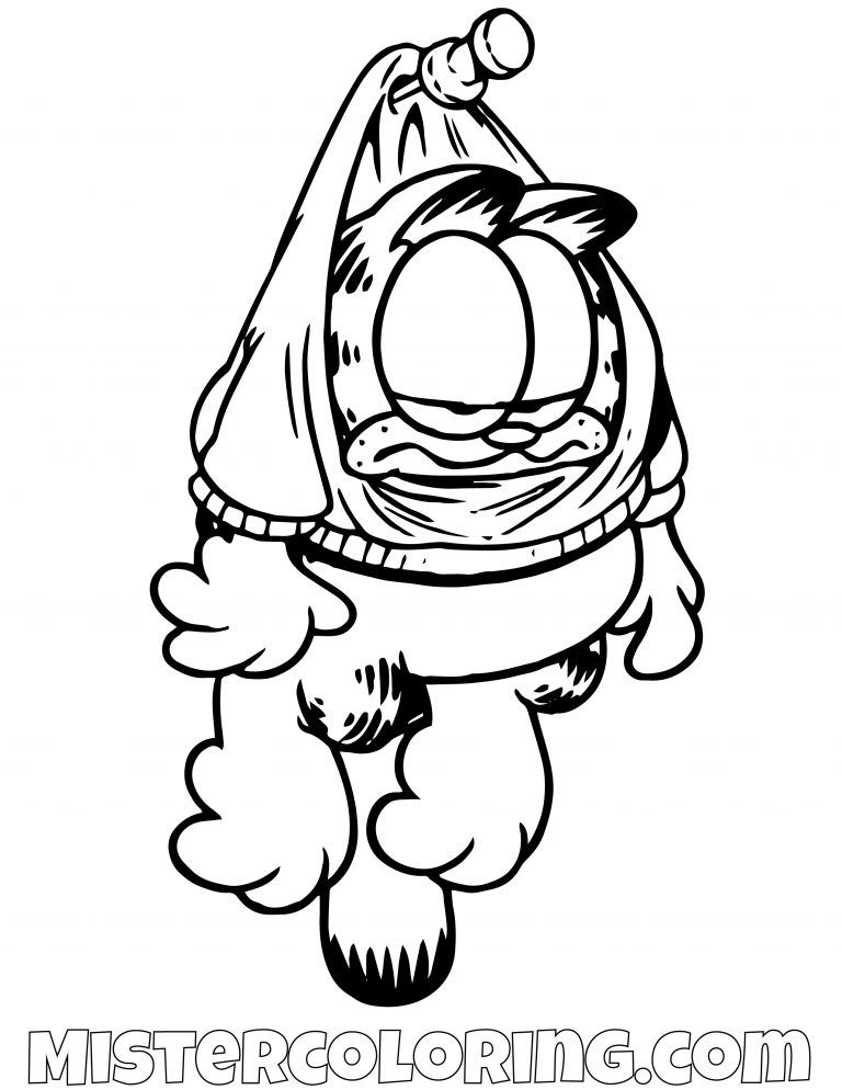 Garfield Hanging Coloring Page | gaft | Coloring pages, Cat ...