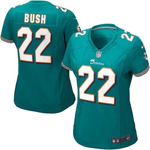 debbebe79 Women s Nike Miami Dolphins  22 Reggie Bush Elite Team Color Green Jersey   109.99