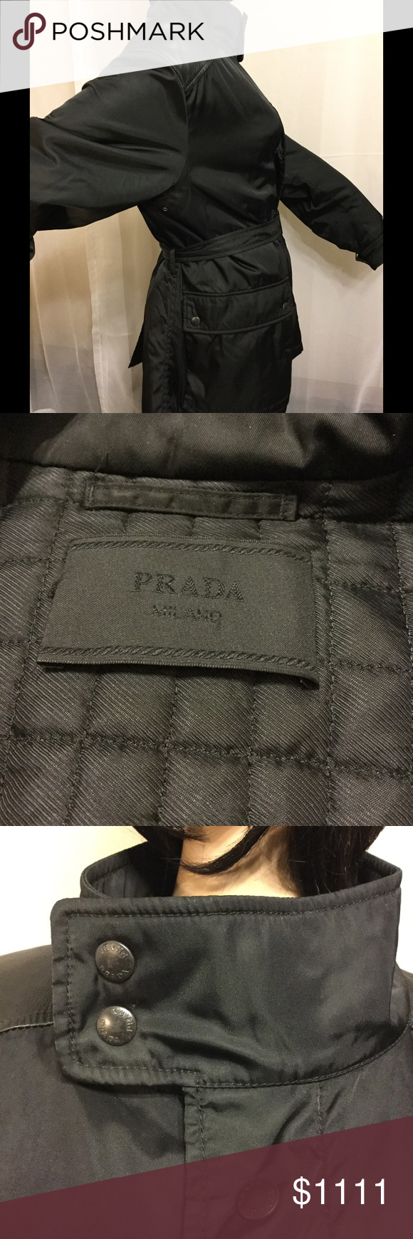 Prada Milano Belted Jacket Coat More Pics 90 S Belted Jacket Clothes Design Fashion Trends [ 1740 x 580 Pixel ]