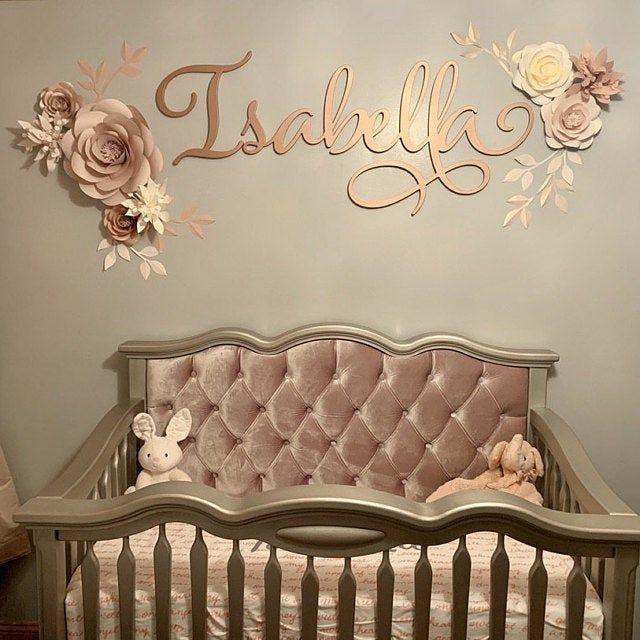 Satz von 9 Premium-Qualität Papierblumen - Papier Blumen Wand-Dekor - Kinderzimmer Wand-Dekor #paperflowerswedding