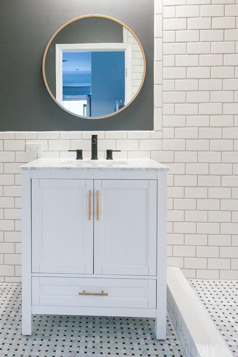 video tutorial how to hang a bathroom mirror diy home improvement rh pinterest com