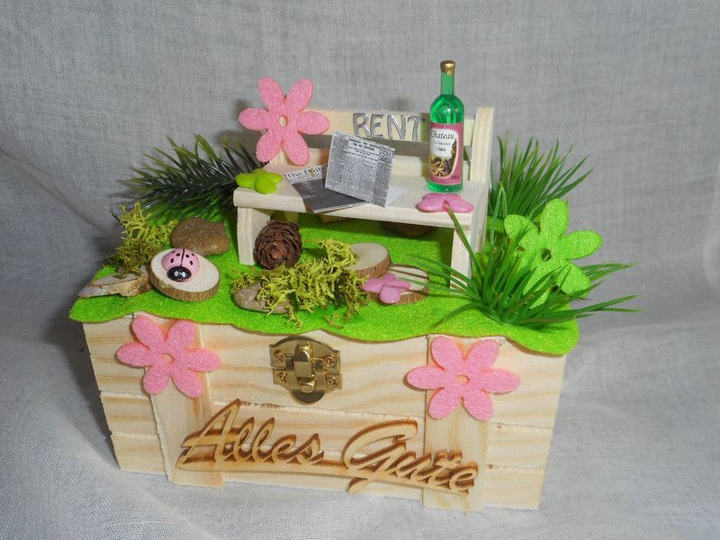 Gastgeschenke Geschenkbox Geldgeschenk Rente Pension Ruhestand