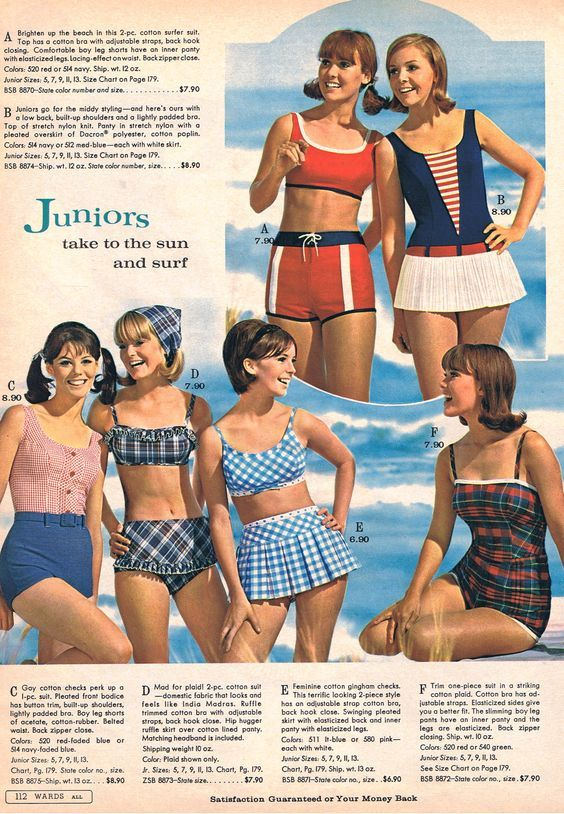 902bb585a3c1f Montgomery Wards catalog swim collection,1966. OMG, I wore a swimsuit when I