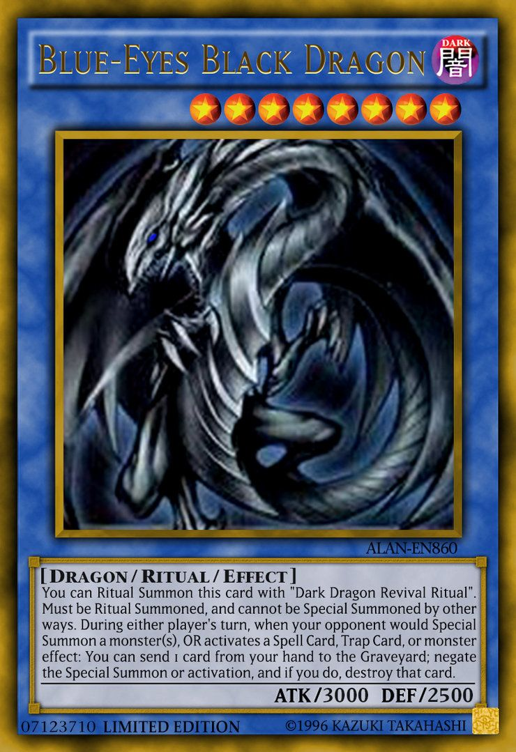 Blue-Eyes Black Dragon by ALANMAC95 on DeviantArt | Yu-Gi ...
