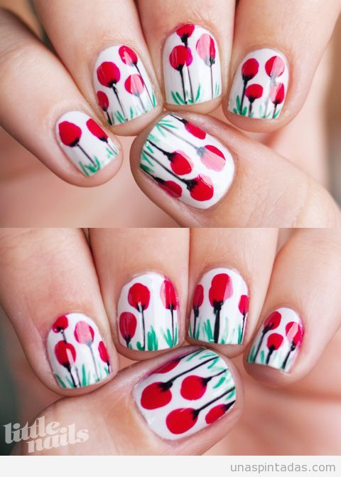 Nail Art amapolas   Nail art :D   Pinterest   Imagenes de google ...