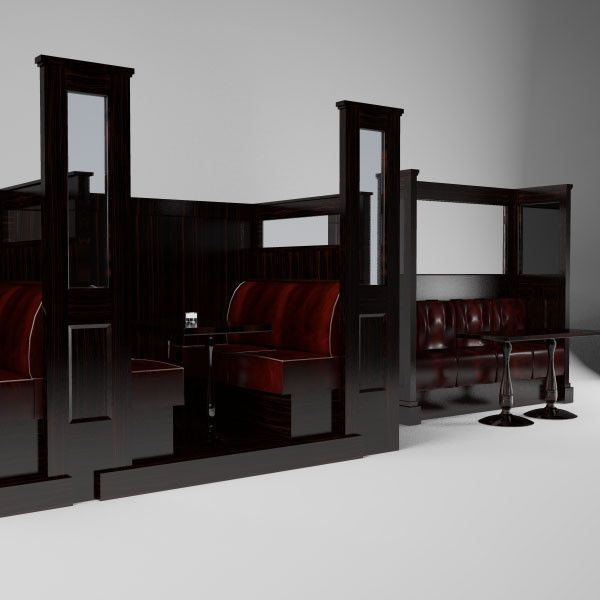 3D Max Irish Bar Seating - 3D Model