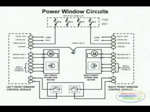 Power Window Wiring Diagram 1 Youtube With Images Power