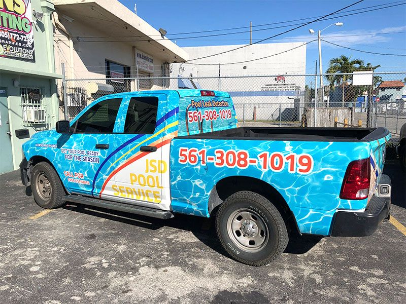 Pick Up Truck Full Wrap Pool Services Car Wrap Commercial