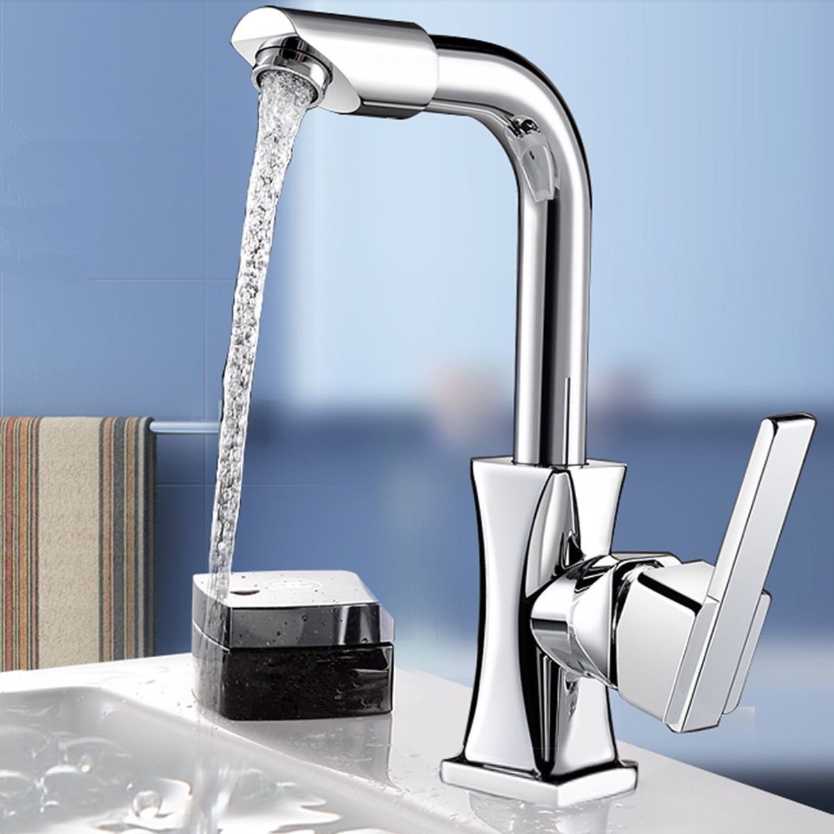 Flexible Chrome Brass Swivel Wash Water Spout Kitchen Sink Single ...