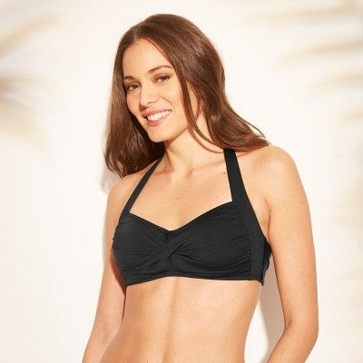 0c9c08304fc Women s Twist Halter Bikini Top - Kona Sol Black XS