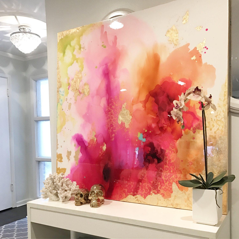 Une dune oeuvre abstraite grande aimable est textur e avec - Melange de peinture ...