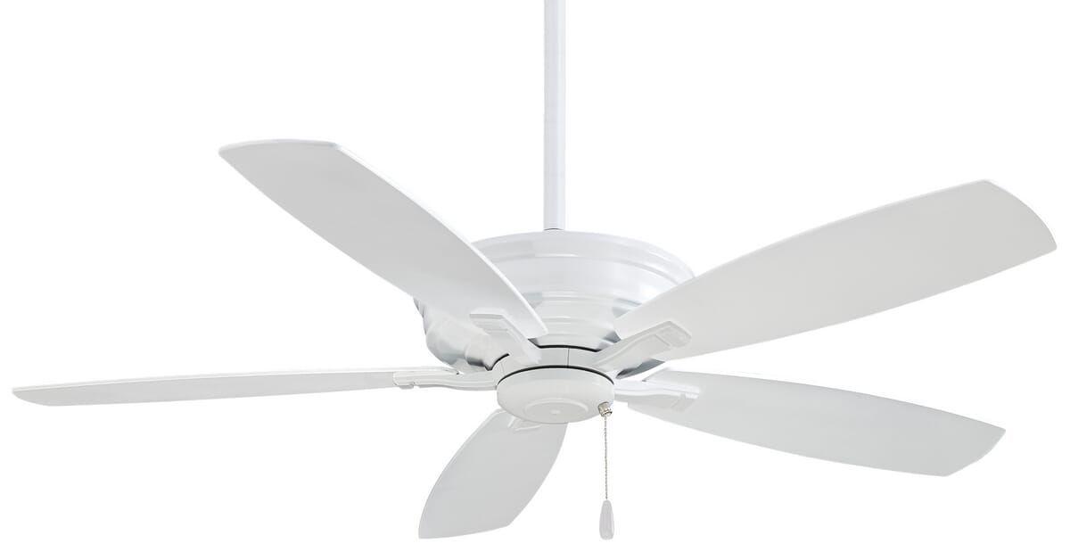 Minka Aire Kafe Ceiling Fan In White Ceiling Fan