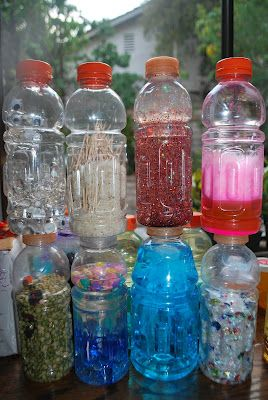 "Laguna Preschool Curriculum: How to make Science/ Discovery Bottles ""Sensory bottle"" how-to projects and interactive play"