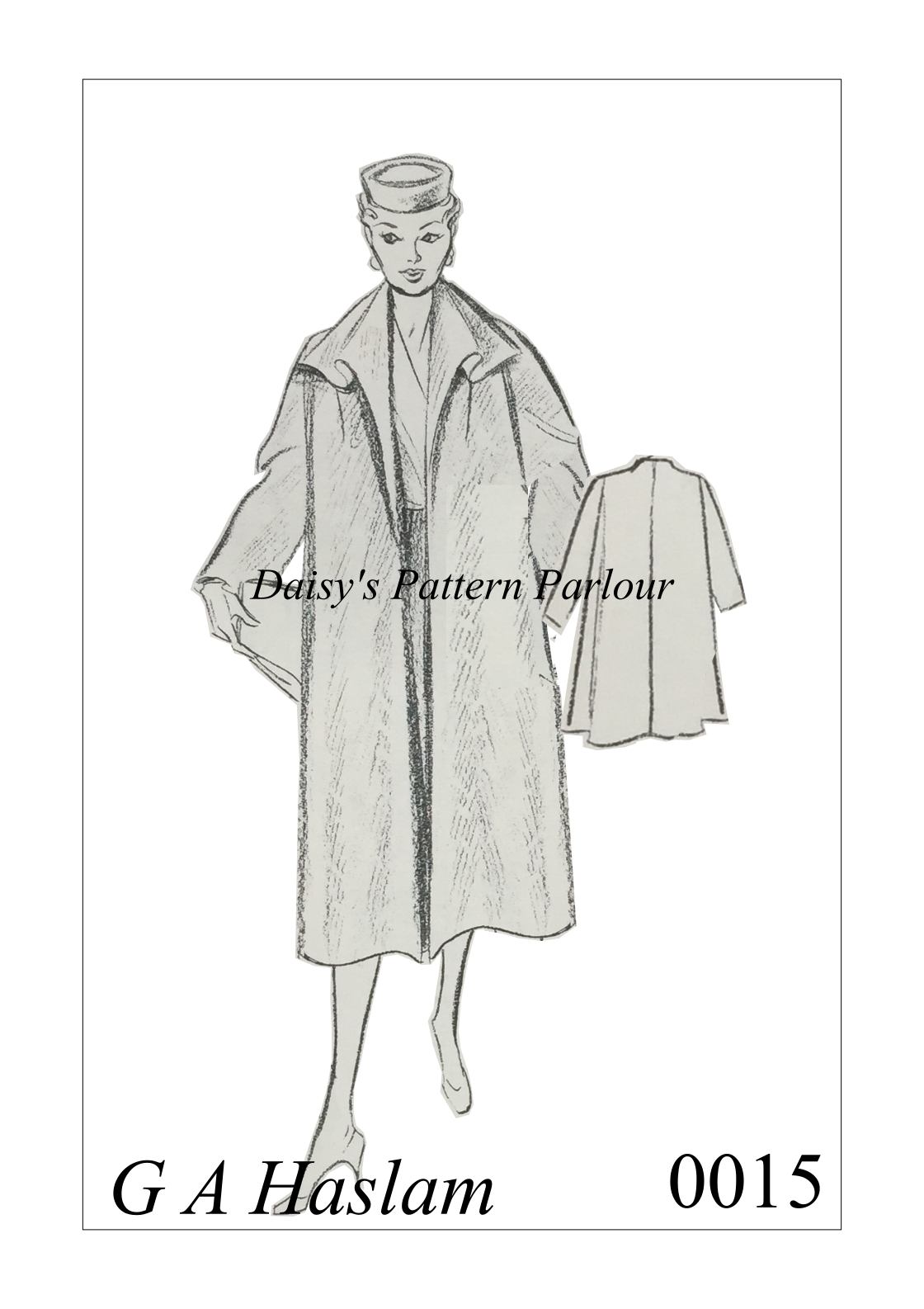 Vintage 1950 Sewing Pattern Coat Duster Over The Haslam System ...