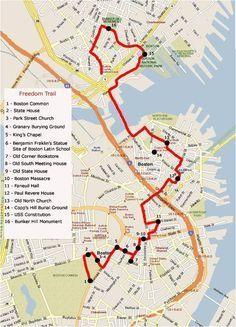 Boston Freedom Trail Map
