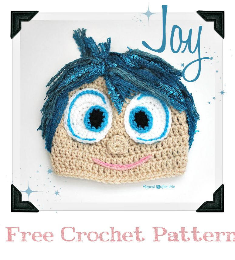 FREE INSIDE OUT Movie Crochet Patterns - Joy and Disgust | Mütze ...