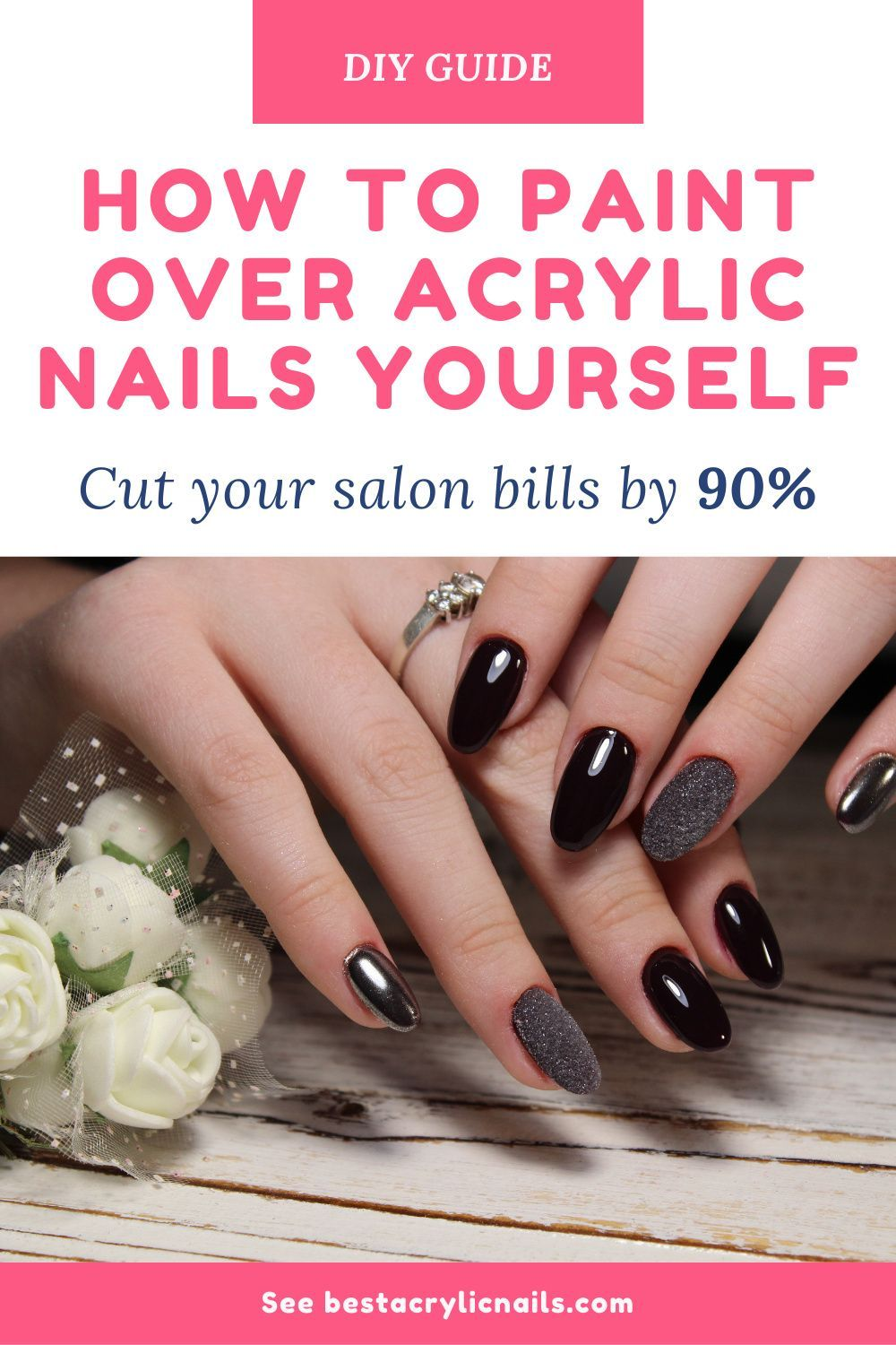 How To Remove Acrylic Nails At Home Easily Ehow The Acetone In The Nail Polish Remover Will Weaken Remove Acrylic Nails Nails At Home Take Off Acrylic Nails