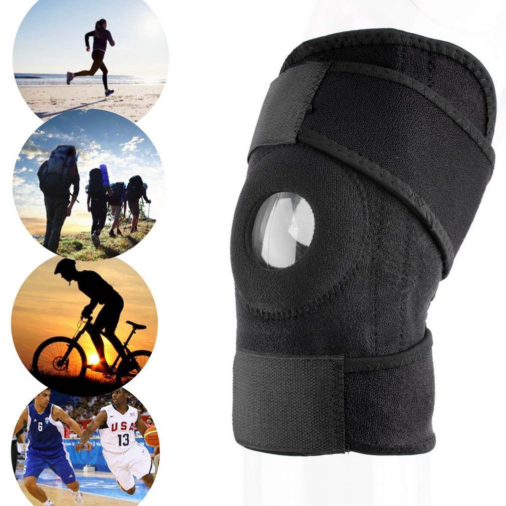 1 9 Adjustable Strap Elastic Patella Sports Support Brace Black Neoprene Knee Hot Xp Ebay Fashion