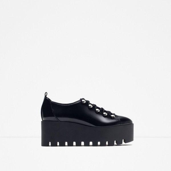 764e2e66ce6 Zara Flat Platform Shoes (€84) ❤ liked on Polyvore featuring shoes ...