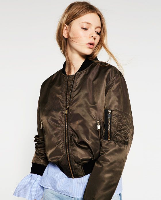 Image 5 Of Quilted Bomber Jacket From Zara Apparel Pinterest