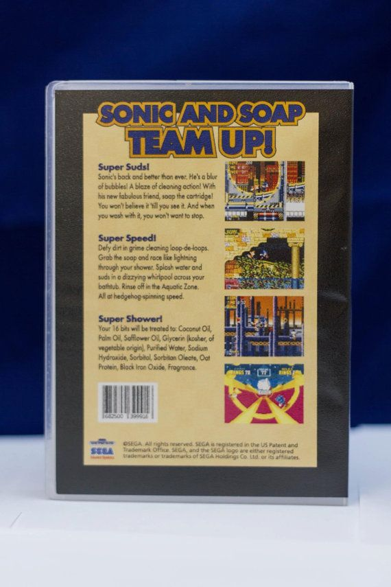 Sonic The Hedgehog 2 Soap Edition Officially Licensed By Sega Sonic The Hedgehog Soap Sonic