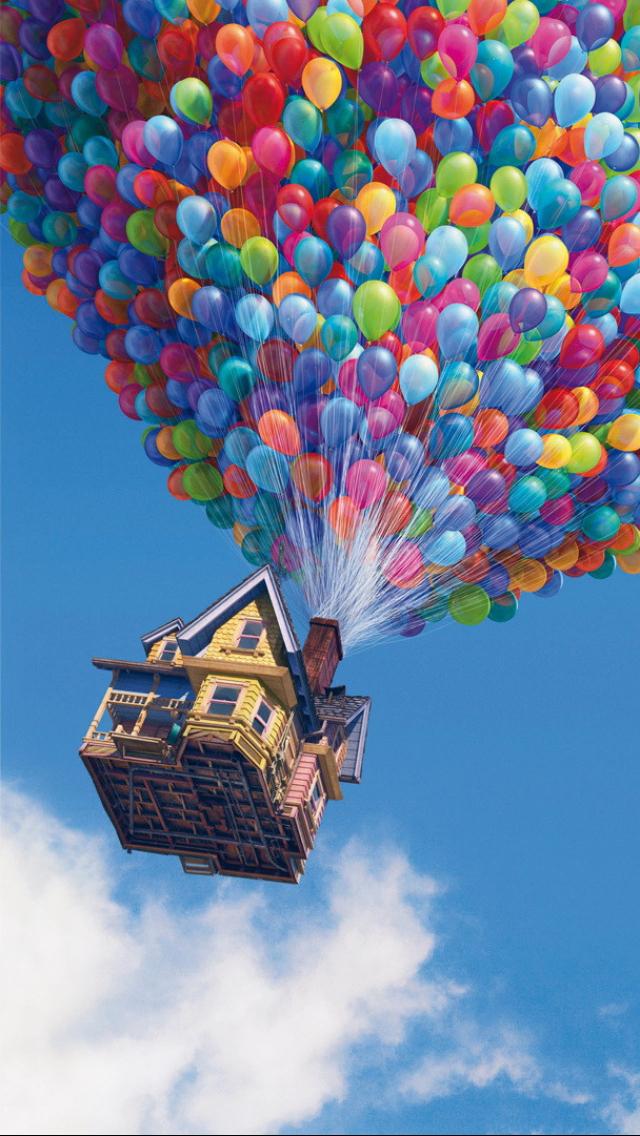 Up House iPhone 5 Wallpaper (640x1136) | iPhone stuff | Iphone, Bakgrunder e Illustration