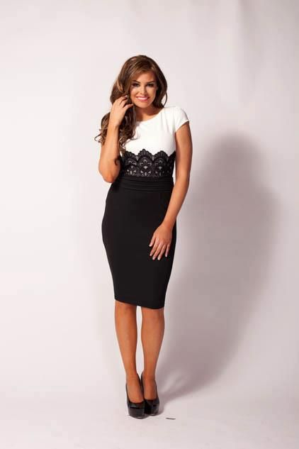 love the lace detail and fit if this dress. might have to add this to my collection.