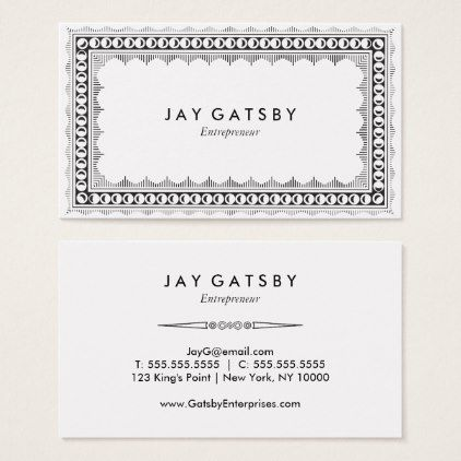 Classic Art DecoArt Nouveau Business Card