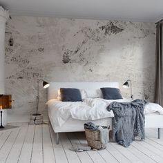 industrieel behang slaapkamer - Google zoeken | industrieel behang ...
