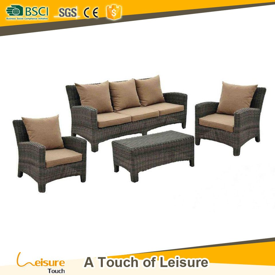 Outdoor Sofa Rattan Best Price Synthetic Rattan Garden Patio Sofa Set Cheap Wicker