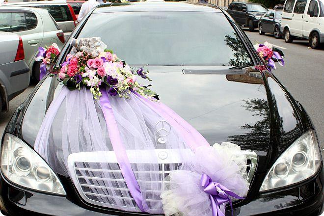 Свадебные украшение для машины фото