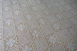 Ravelry: A Bedspread, made of two kinds of patterns pattern by Mimi Atanasova
