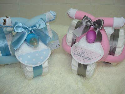 Cosasdemarina regalos con pa ales detalles para bebes triciclo de pa ales para tere baby - Detalles para baby shower ...
