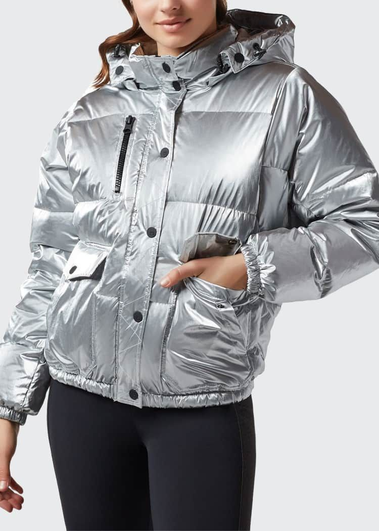Blanc Noir Mont Blanc Hooded Puffer Jacket [ 1050 x 750 Pixel ]