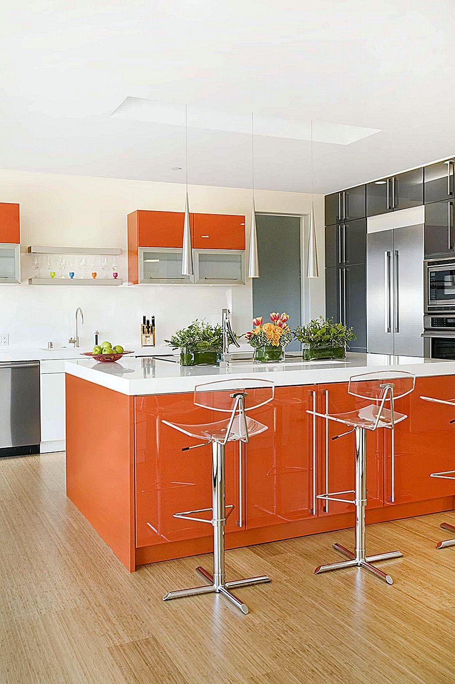 Burnt Orange Kitchen Decor Ideas Orange Kitchen Decor Kitchen Design Color Contemporary Kitchen
