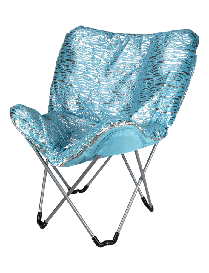 Zebra Foil Butterfly Chair Chairs Room Accessories Shop Justice Butterfly Chair Room Accessories Girls Room Decor