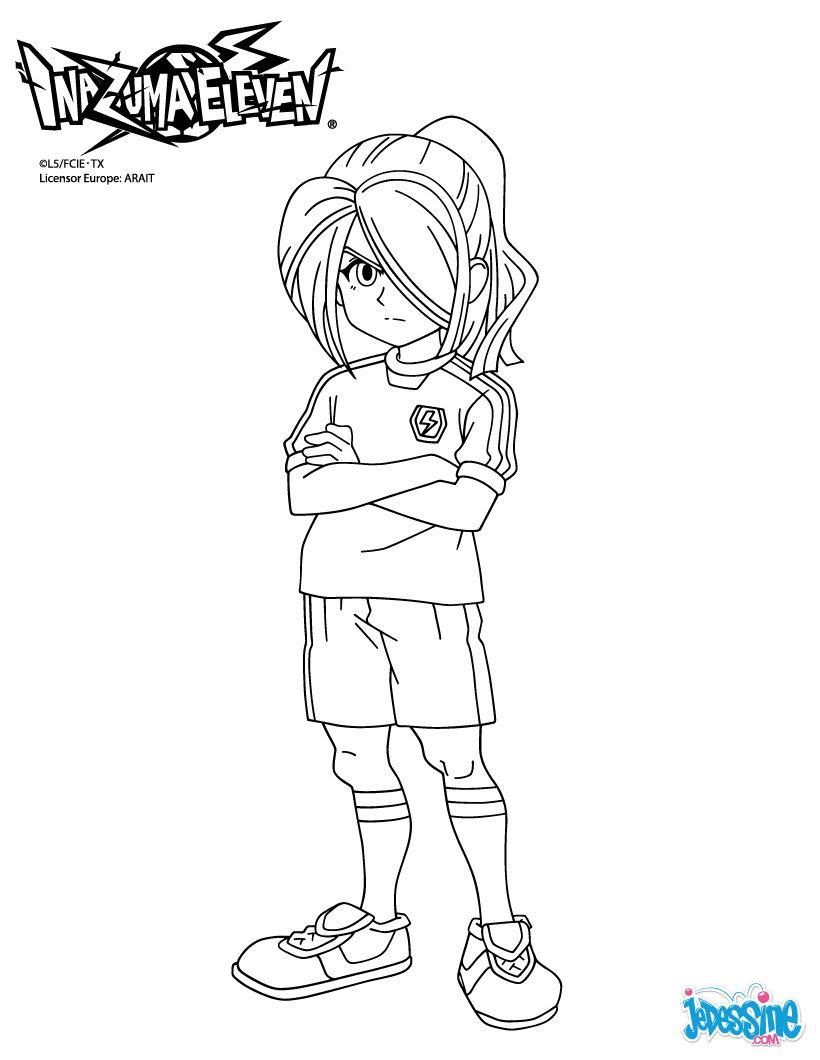 Coloriage Inazuma Eleven Nathan Swift Coloriage Coloriage Manga Coloriage Peppa Pig