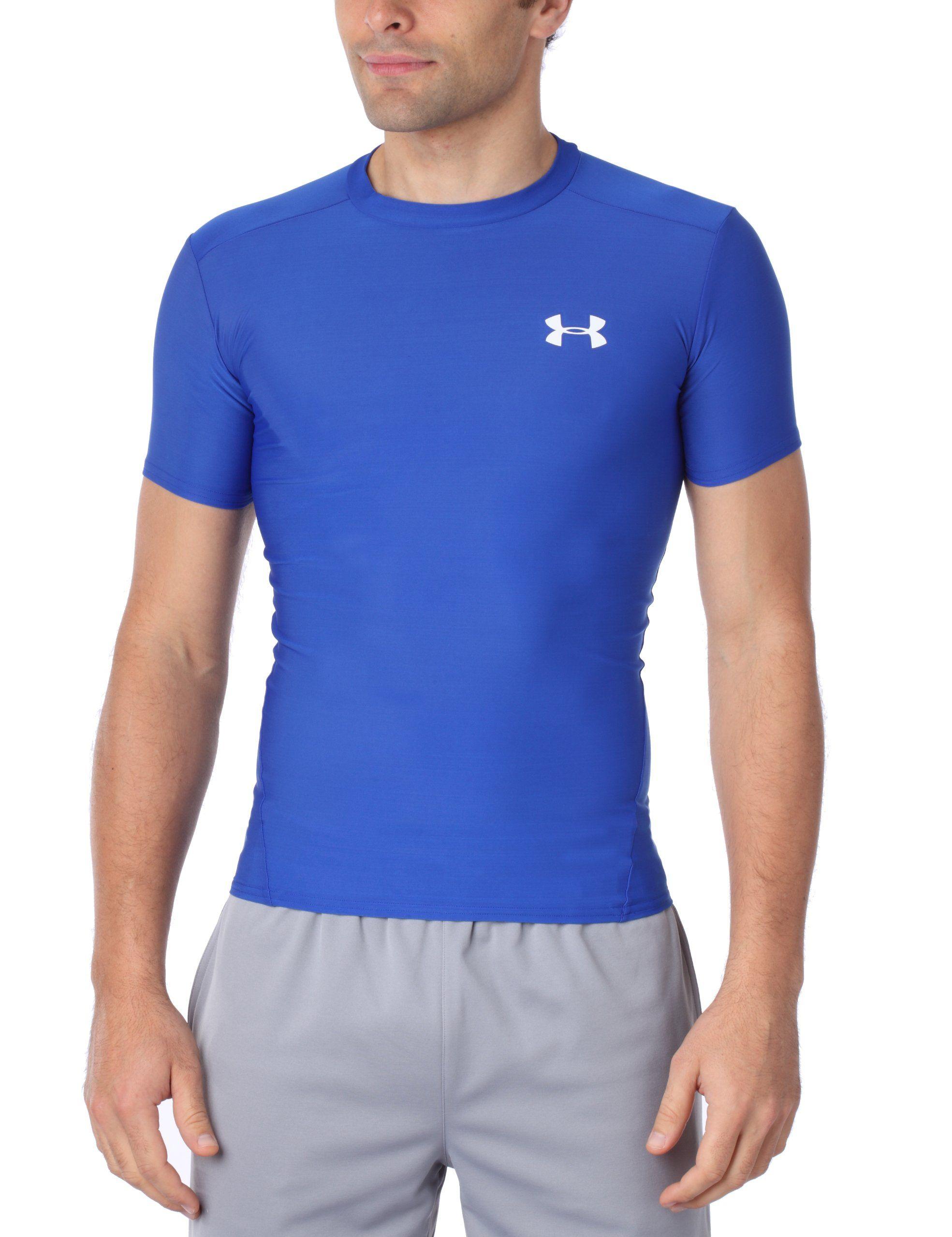 super popular 32022 9d284 Under Armour Mens HeatGear Compression Short Sleeve T-Shirt Large Royal.  4-way