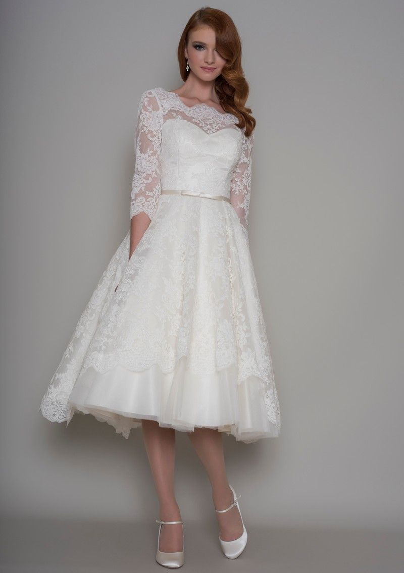 Gorgeous Lace Gown With 3 4 Length Sleeve From Loulou Bridal