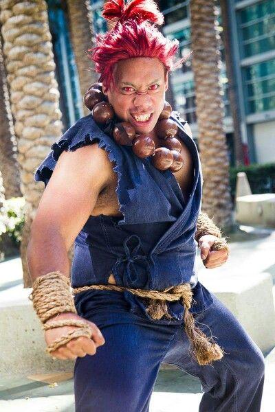Akuma Cosplay From Street Fighter Hetairoi Cosplay Male
