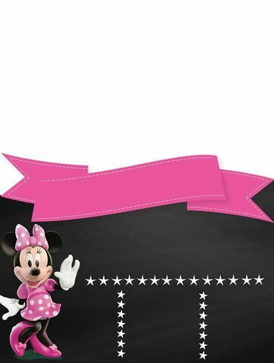 Mi Bautizo Invitaciones Minnie Invitaciones De Cumpleaños