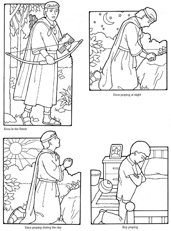 lesson 3 i can pray to heavenly father enos praying flannel board figures the friend crop each picture print one per page and read as scripture story - Lds Primary Coloring Pages Prayer