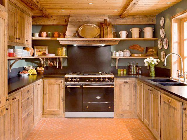 Luxe absolu dans un chalet rustique escalier d coration chalet maison ou appartement de - Cuisine chalet montagne ...