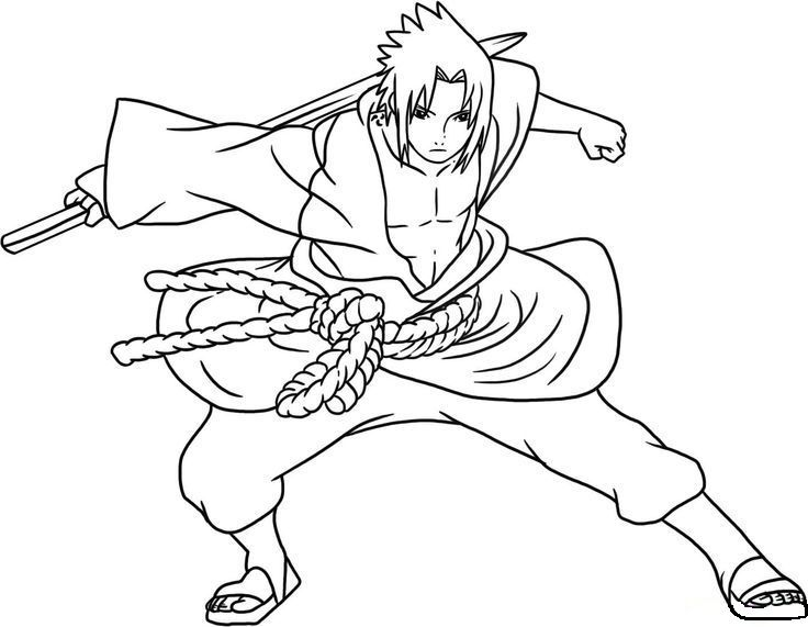 Naruto Sasuke With His Horse Coloring Pages For Kids G6z Printable Naruto Coloring Pages For Kids Sasuke Drawing Cartoon Coloring Pages Coloring Pages