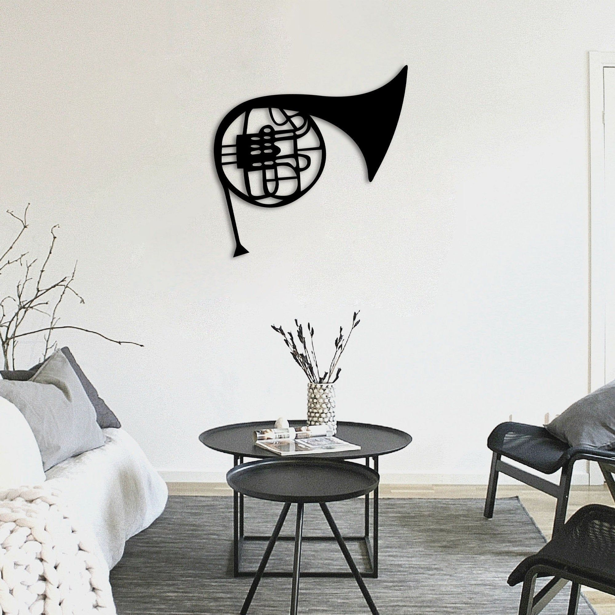 Metal Wall Art French Horn Interior Decoration Home Decor Wall Hanging Home Decoration Wall Art Wall Decoration In 2021 Wall Art Decor Metal Wall Art Home Decor