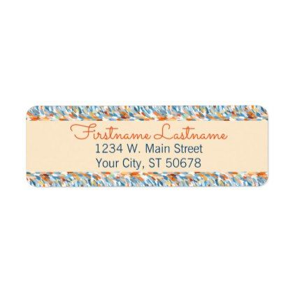 Custom Bright Summer Colors Paint Splatter Pattern Label