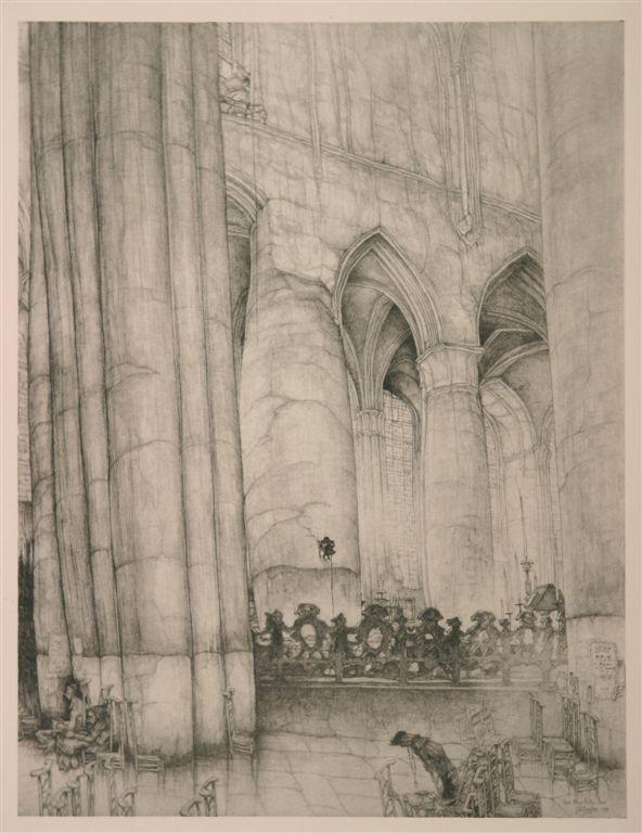 Jules De Bruycker - Tekeningen - potlood, inkt, ingekleurde, krijt - Dessins - Drawings/A0018 ST.NIKLAASKERKE