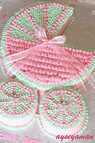pretty baby girl cake
