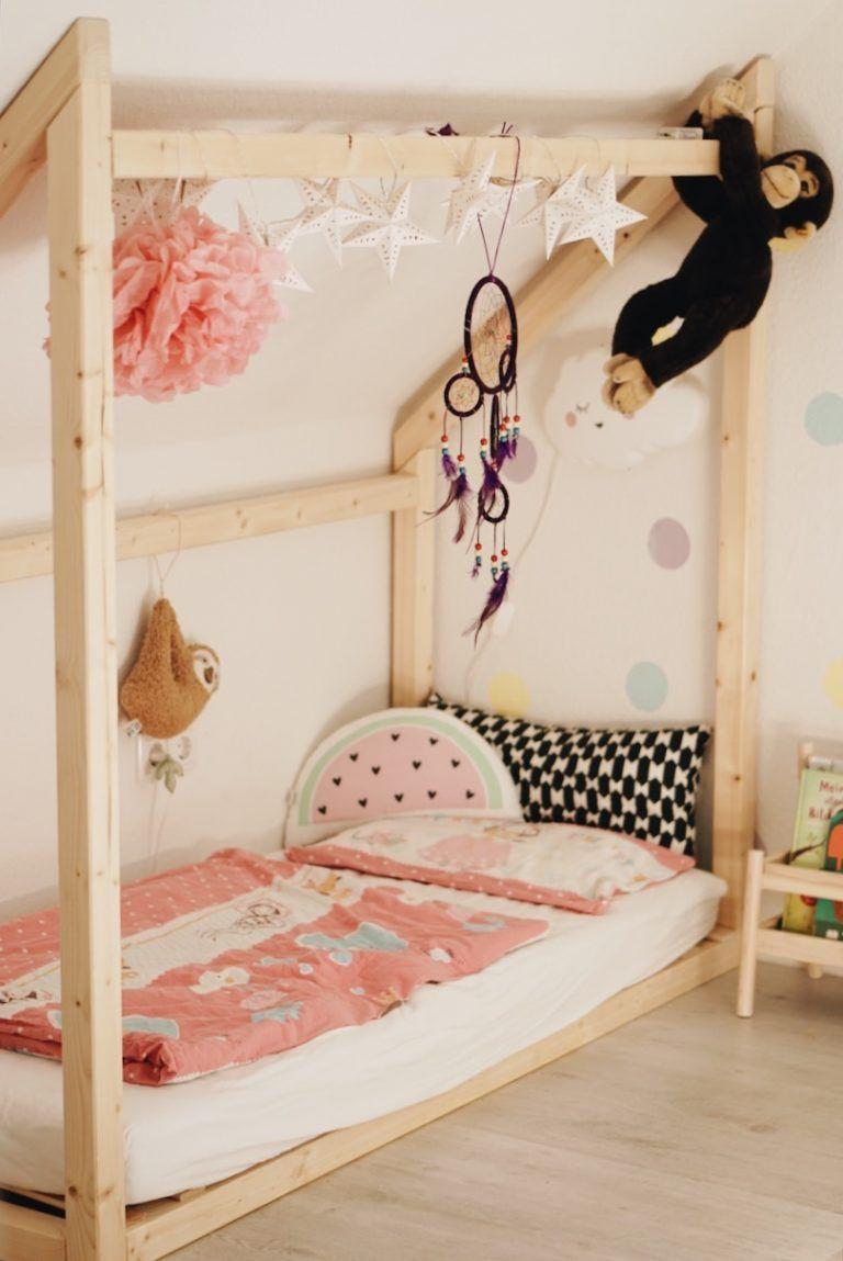 Unser Geschwisterbett für Kinderzimmer mit Dachschräge |